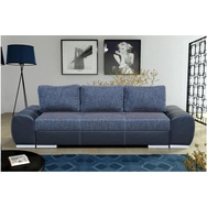 JUSTyou AGNES Canapé cuir éco Bleu 270x100 cm