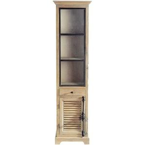 Vitrine en bois recyclé L 52 cm Persiennes