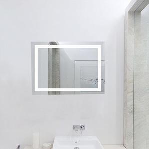 60x80cm LED Miroir de Salle de Bain Mural Blanc Froid 6500K Commutateur Tactile Haute Qualité - OOBEST