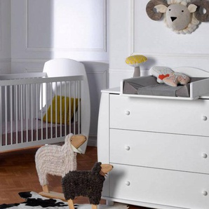 Chambrekids - SOFAMO Petite chambre bébé Médéa Blanc 70x140