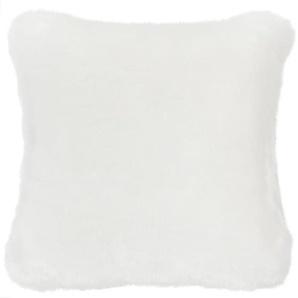 Coussin fausse fourrure blanc 45 x 45 cm SNOWDOWN