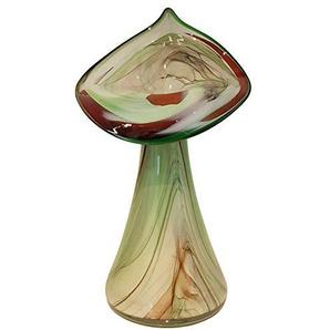 Oberstdorfer Glashütte Vase grande multicolore beige marbré, souffle a la bouche décorative moderne de vase en verre hauteur environ 30 cm