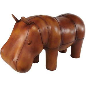 Déco hippopotame en cuir WARREN