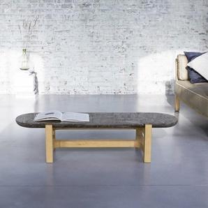 Table basse Stoneleaf en bois de chêne et marbre 130x45