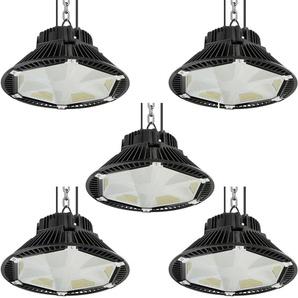 5×Anten 200W UFO LED Anti-Éblouissement Rond Industriel LED Étanche IP65 Projecteur Extérieur Blanc Froid 6000K (Boîte de Jonction Fournie)