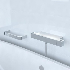 Saniclass Brauer Square CS Robinet de douche thermostatique avec barre chrome 7901+