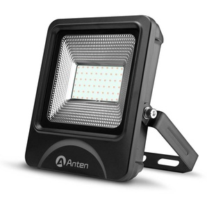 Anten 50W Spot LED Éclairage Porjecteur LED IP65 Étanche Ultra-Mince Lampe à Leds pour Intérieur et Extérieur Blanc Chaud 3000K (Connecteur de cble étanche Fourni)