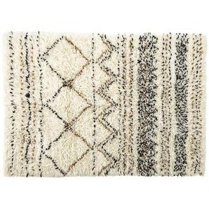 Tapis berbère en laine et coton effet shaggy 140x200