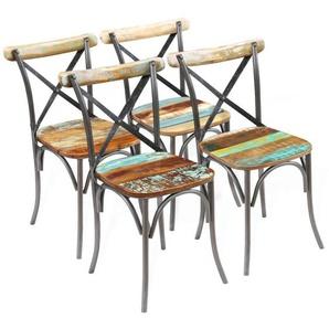 Chaises de salle a manger 51 x 52 x 84 cm 4 pcs Bois recycle - ASUPERMALL