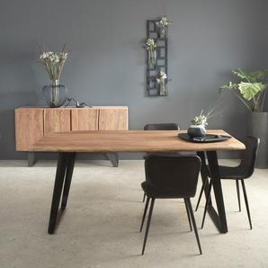 Chaise design cuir de buffle naturel - noir