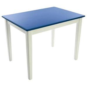 Kinderbunt Tim - Table d'Enfant bicolore - blanc/bleu/69x49x51cm/structure blanc RAL 9010