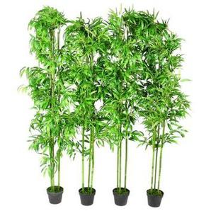 Lot de 4 bambous artificiels Décor intérieur 190 cm