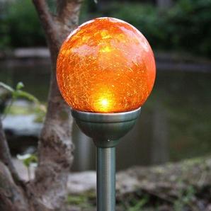 Lampe solaire à piquet Roma avec LED ambre