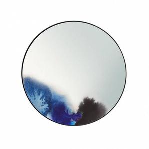 Petite Friture Miroir mural Francis Small Ø45cm - bleu d'eau/P 5cm/aluminium grainé laqué époxy