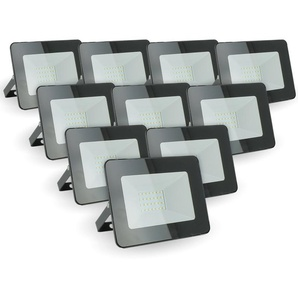 Lot de 10 projecteurs 20W IP65 extérieur   Température de Couleur: Blanc chaud 2700K - ECLAIRAGE DESIGN
