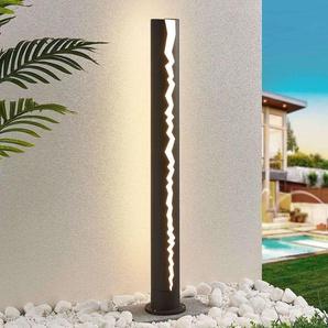 Borne lumineuse LED Keke en gris foncé, 100cm