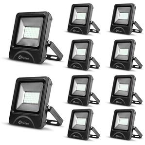 10×Anten 50W Spot LED Éclairage Porjecteur LED IP65 Étanche Ultra-Mince Lampe à Leds pour Intérieur et Extérieur Blanc Chaud 3000K (Connecteur de cble étanche Fourni)10