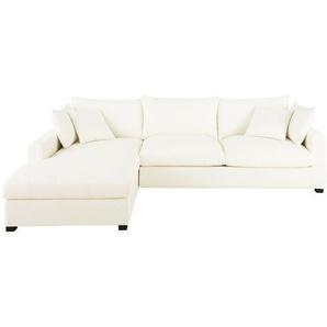 Canapé-lit accoudoir gauche en coton ivoire Rhodes