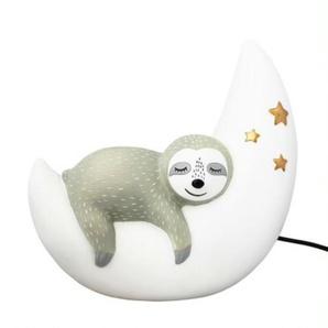 SLOTH-Lampe à poser LED paresseux Résine H22cm Blanc et Gris House Of Disaster
