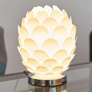 Lampe à poser Marees en blanc, Ø 15cm