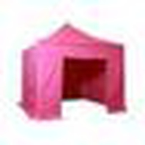 Barnum pliant 3x3m Pack complet Alu 40 polyester 300g/m² pelliculé PVC Coloris Rose - INTEROUGE