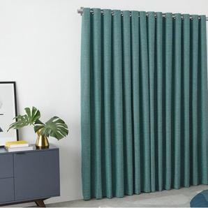 Walden, une paire de rideaux à œillets doublés au fini texturé 228 x 228 cm, bleu turquoise
