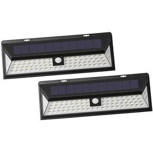 Lot de 2 - Projecteur solaire détecteur de mouvement - 80 LED - OUTIROR