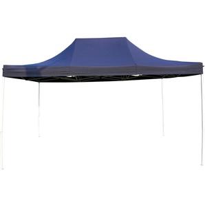 Tente Pliante Tonnelle de jardin 3x4,5m en Polyester 180g/m² traitée antigel + sac de transport   BLEU - INTEROUGE