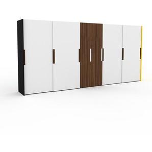 Dressing - Blanc, design, armoire penderie pour chambre ou entrée, haut de gamme, avec portes coulissantes - 504 x 233 x 65 cm, modulable