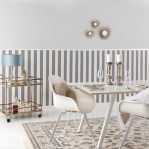 Tapis poil ras Nain Beige/Bleu 120x170 cm - Tapis poil court design moderne pour salon