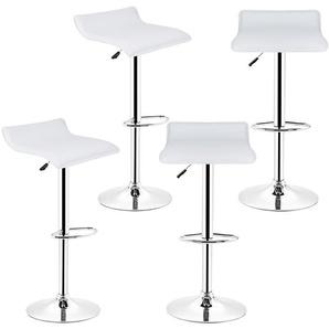 Tabourets de bar - Lot de 4 - Chaise de Bar Tabouret à la Maison - Cuisine Blanc - OOBEST