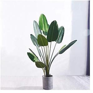 Faux plantes décoration florale Simulation, Salon Intérieur étage Fleur Grande plantation de pot en plastique décoratifs ORNEMENT 144 (Size : A)