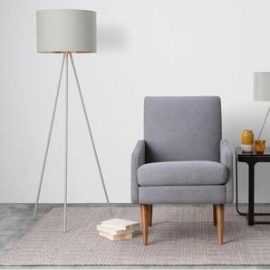 Tris, lampadaire, gris mat et cuivre