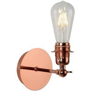 RETRO-Applique Métal avec Ampoule H28cm Cuivre Lucide