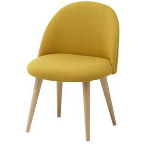 Chaise enfant vintage jaune et bouleau massif Mauricette