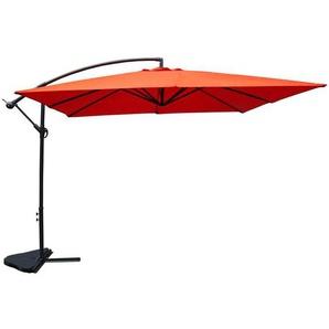 Parasol carré Solenzara terracotta 3x3 mètres - CONCEPT-USINE