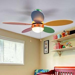 Ventilateur de plafond coloré Corinna avec lumière