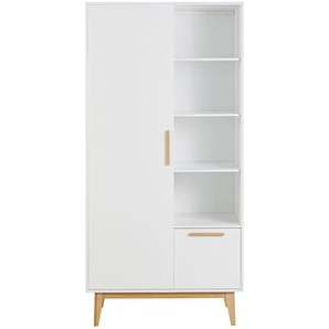 Dressing style scandinave 1 porte 1 tiroir blanc Sweet