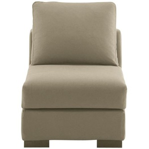 Chauffeuse en coton taupe L64 Terence