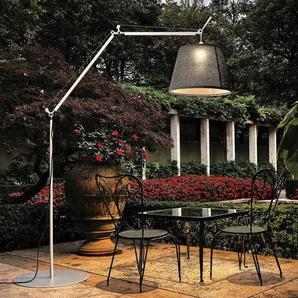 TOLOMEO PARALUME OUTDOOR-Lampadaire dextérieur LED H232cm basalte Artemide - designé par Michele De Lucchi & Giancarlo Fassina