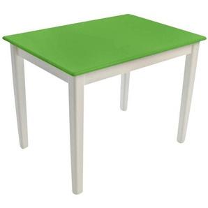 Kinderbunt Tim - Table d'Enfant bicolore - blanc/vert/69x49x51cm/structure blanc RAL 9010