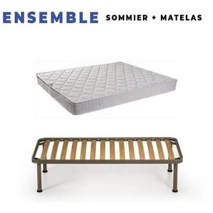 Matelas Tissu Ignifuge 140x190 + Sommier D - KING OF DREAMS