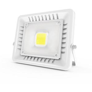 Anten 50W Projecteur LED IP65 Étanche Ultra-Mince Spot LED Léger Puissant Lampe pour Intérieur et Extérieur Blanc Froid 6000K (Blanc)