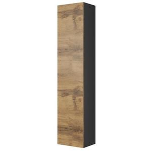Armoire suspendue 180 cm aspect chêne et gris anthracite Trevise