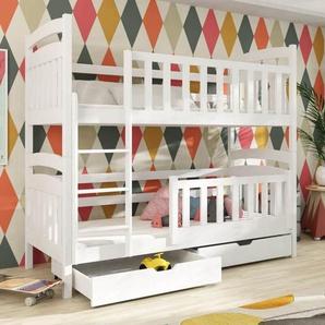 Lit superposé PIT pour enfant - Hêtre,Blanc,Pin,Graphite - 80 cm x 180 cm,80 cm x 190 cm,80 cm x 200 cm,90 cm x 190 cm,90 cm x 200 cm