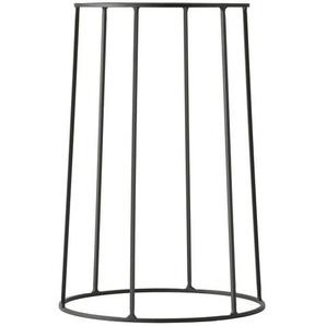 Menu Wire Base 404 - Cadre 40cm - noir/peint par poudrage/H 20cm, Ø 23cm