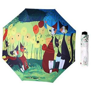 Easy Go Shopping Parasol de Parasol créatif Style impudent à Trois Volets Nekolus Motif à Ruban Ruban Anti-Ultraviolet Parapluie (SKU : Og3876a)