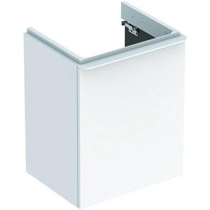 Geberit Geberit Smyle Square Lavabo carré pour lavabo, 500.350., 442x617x356mm, avec 1 porte, ouverture à droite, Coloris: Laque brillante blanche - 500.350.00.1