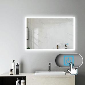 Miroir salle de bain 100x60cm anti-buée Mural Lumière Illumination avec éclairage LED - AICA SANITAIRE