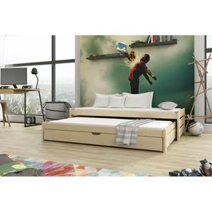 Lit gigogne Anis - 4 couleurs - 7 Tailles - Pin - 80 cm x 160 cm